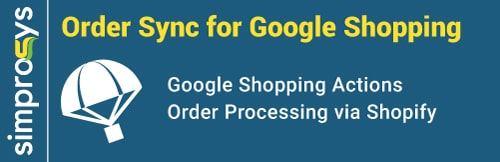Shopping actions order sync